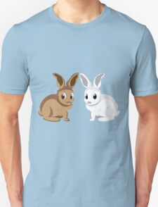 White and brown rabbits T-Shirt