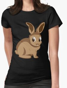 Brown rabbit Womens Fitted T-Shirt