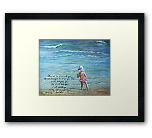 Stepping Out Into the Unknown Isaiah 41:10 Framed Print
