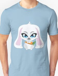 Cute small white lovely bunny holding carrot T-Shirt
