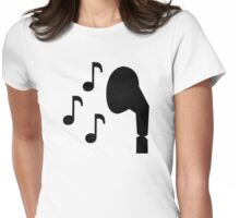 Headphones notes music Womens Fitted T-Shirt