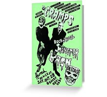 The Cramps - Concert Poster Greeting Card