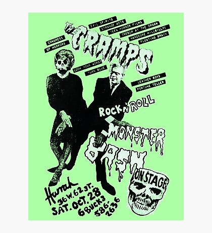 The Cramps - Concert Poster Photographic Print