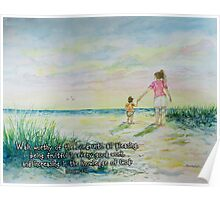 Mommy and Me at the Beach- Colossians 1:10 Poster