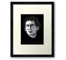 Ayrton Senna da Silva Framed Print