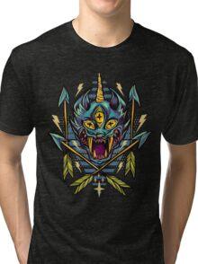Cat Beast  Tri-blend T-Shirt