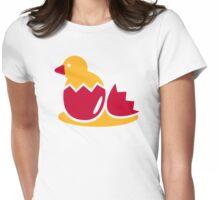 Biddy bird egg Womens Fitted T-Shirt