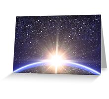 Sun and planet Greeting Card