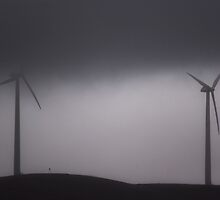 Two Grey Windmills by FuriousEnnui