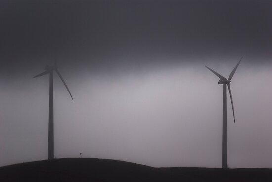 Two Grey Windmills by FuriousEnnui