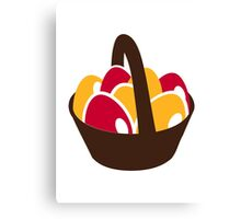 Easter eggs basket Canvas Print