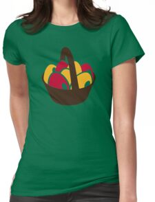 Easter eggs basket Womens Fitted T-Shirt