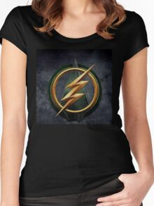 Arrow Flash Crossover Women's Fitted Scoop T-Shirt