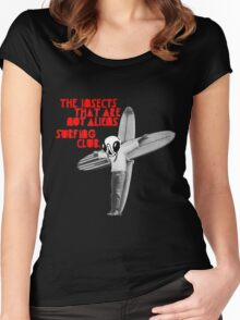 The Insects That Are Not Aliens Surfing Club Version 2 Women's Fitted Scoop T-Shirt