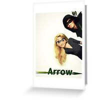 Olicity Tangled Arrow Crossover Greeting Card
