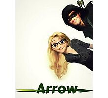 Olicity Tangled Arrow Crossover Photographic Print