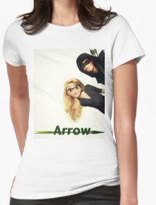 Olicity Tangled Arrow Crossover Womens Fitted T-Shirt