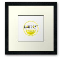 Don't Cry, Smile Framed Print
