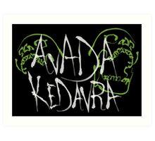Avada Kedavra white ver. Art Print