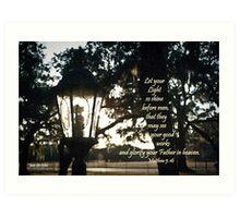 House Lantern- Matthew 5:16 Art Print