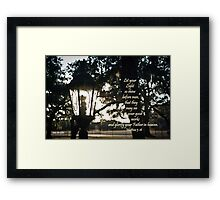 House Lantern- Matthew 5:16 Framed Print