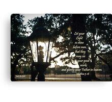 House Lantern- Matthew 5:16 Canvas Print
