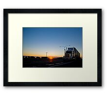 The Road to Melbourne Framed Print