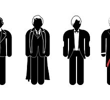 Dr Who - 4 modern doctors  by mime666