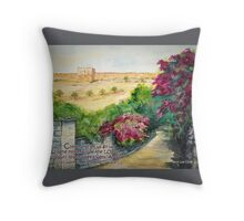 Road To Eastern Gate- Isaiah 2:3 Throw Pillow