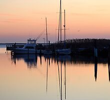 Areskonk Creek Evening Reflection | Center Moriches, New York  by © Sophie W. Smith