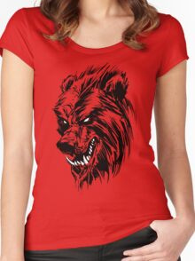Black Werebear Women's Fitted Scoop T-Shirt