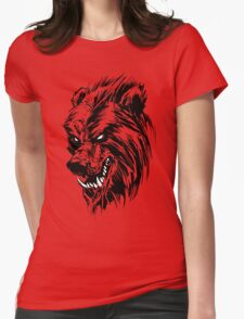 Black Werebear Womens Fitted T-Shirt