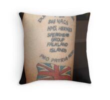 Falklands tattoo Throw Pillow