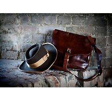 Civil War Hat and Sack Photographic Print