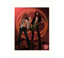 Self Portrait as Robert Plant and Jimmy Page Art Print