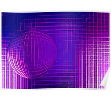 the purple sphere Poster