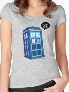 Bigger on the Inside - Doctor Who Shirt Women's Fitted Scoop T-Shirt