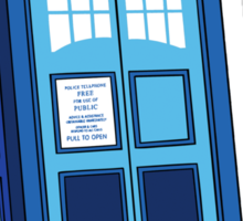 Bigger on the Inside - Doctor Who Shirt Sticker