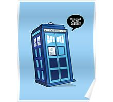 Bigger on the Inside - Doctor Who Shirt Poster