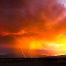 Lightning at Sunset by Ryan Houston