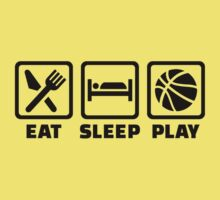 Eat Sleep play Basketball One Piece - Short Sleeve