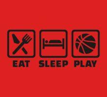Eat Sleep play Basketball Kids Clothes