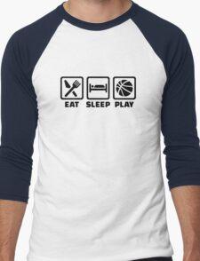 Eat Sleep play Basketball Men's Baseball ¾ T-Shirt