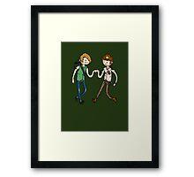 Walking Death Time Framed Print