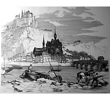 Dinant Citadel, Belgium.1860 Photographic Print