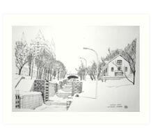 Winter Locks, Ottawa 1971 Art Print