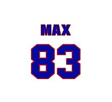 National football player Max Boydston jersey 83 Photographic Print