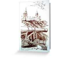 Noon Day Cannon, Ottawa, 1971 Greeting Card