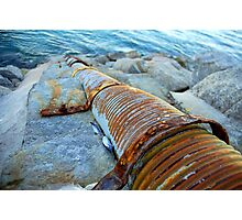 Rusty Stormpipe Photographic Print