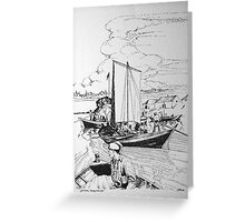 York Boats Norway House,Canada 1867 Greeting Card